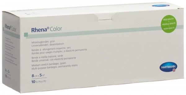 RHENA Color Elastische Binden 8cmx5m gr off 10 Stk