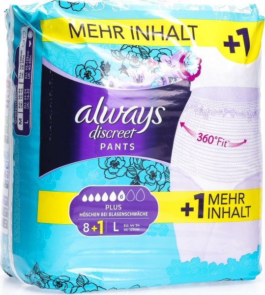ALWAYS Discreet Inkontinenz Pants L Plus 8+1 grat