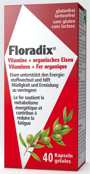 FLORADIX Vitamine+organisches Eisen Kaps 40 Stk