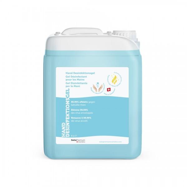 SWISS PREMIUM Hand Desinfektionsgel Kanister 5 lt