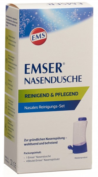 EMSER Nasendusche + 4 Btl Nasenspülsalz