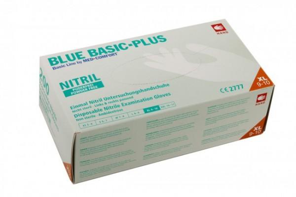 Nitril-Handschuhe blau XL à 200Stk. Blue Basic-Plus puderfrei-Copy