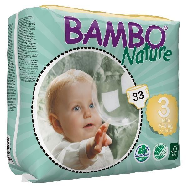 ABENA Bambo Nature 3 Midi 5-9kg à 33 Stk. (310133)