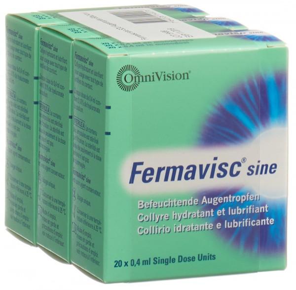 FERMAVISC sine Gtt Opht 60 Monodos 0.4 ml