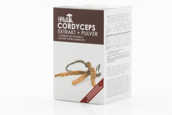 HAWLIK Cordyceps Extrakt + Pulver Kaps 120 Stk