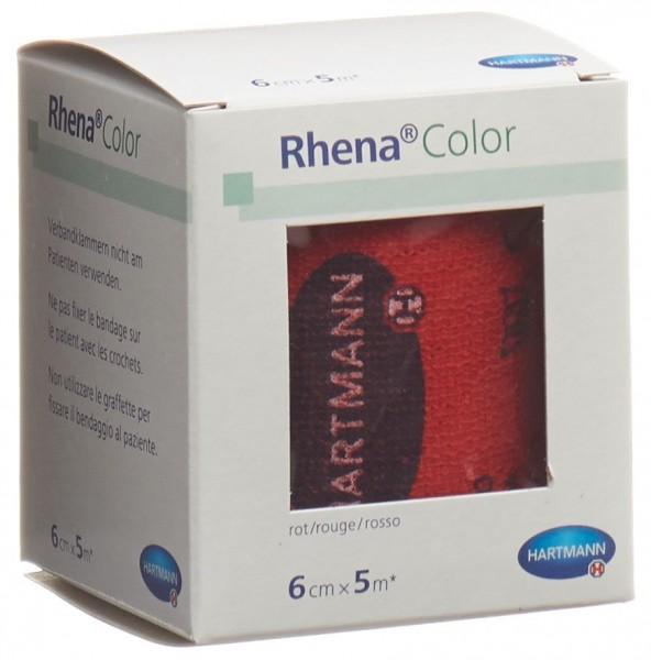 RHENA Color Elastische Binden 6cmx5m rot