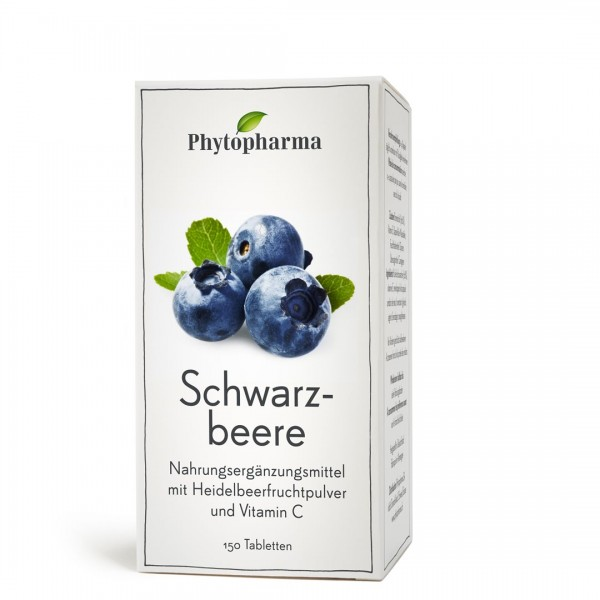PHYTOPHARMA Schwarzbeere Tabl 150 Stk