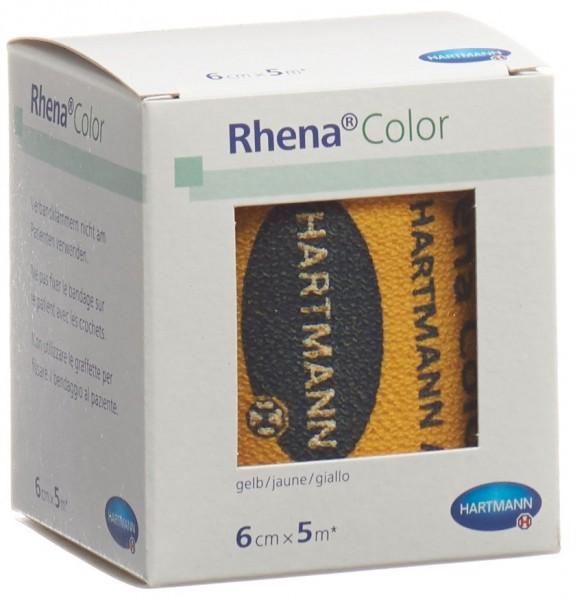RHENA Color Elastische Binden 6cmx5m gelb