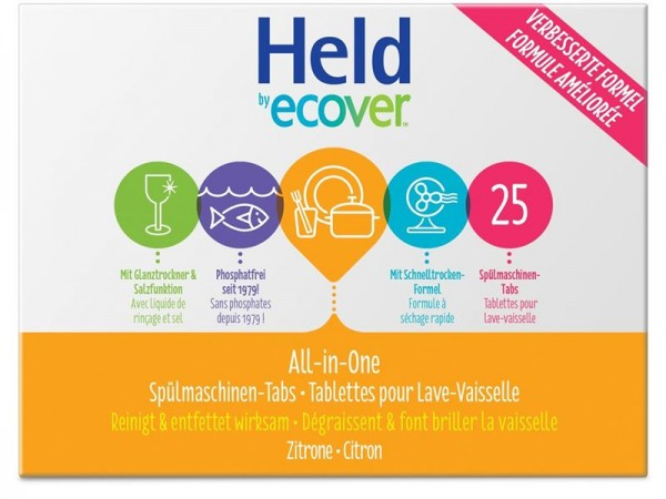HELD BY ECOVER Geschirrspül Tabs All One Zit 500 g