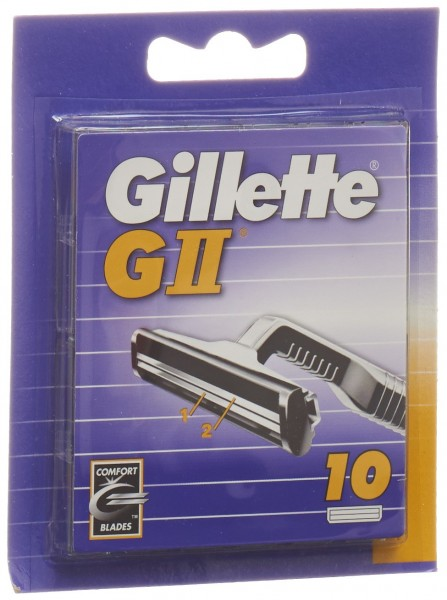 GILLETTE GII Ersatzklingen 10 Stk