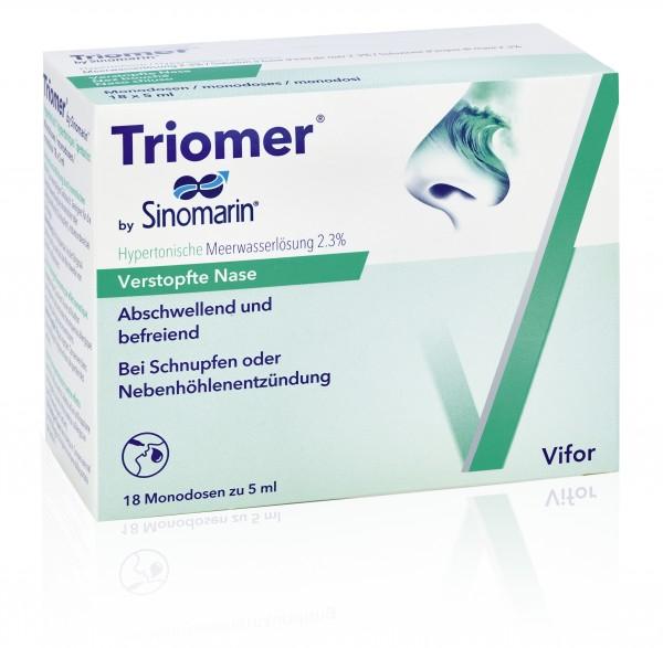 TRIOMER Lös Sinomarin hypertonisch 18 Monodos 5 ml