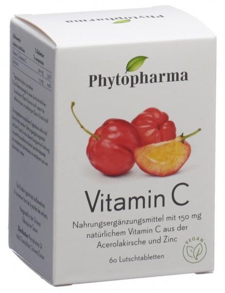PHYTOPHARMA Vitamin C Lutschtabl Ds 60 Stk