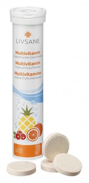 LIVSANE Multivitamin Tropenfrüchte Geschm 20 Stk
