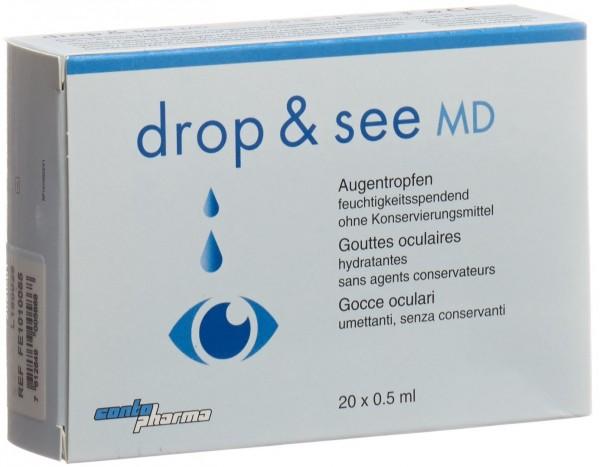 CONTOPHARMA Comf Lös drop&see MD 20 Monodos 0.5 ml