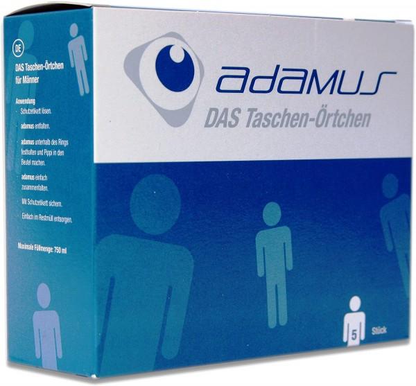 Reisetoilette adamus, Notfall- WC, Taschenörtchen für Männer, 5 -er Pack