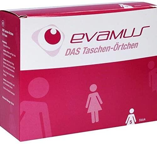 Reisetoilette evamus, Notfall- WC, Taschen WC für Frauen, 5 -er Pack